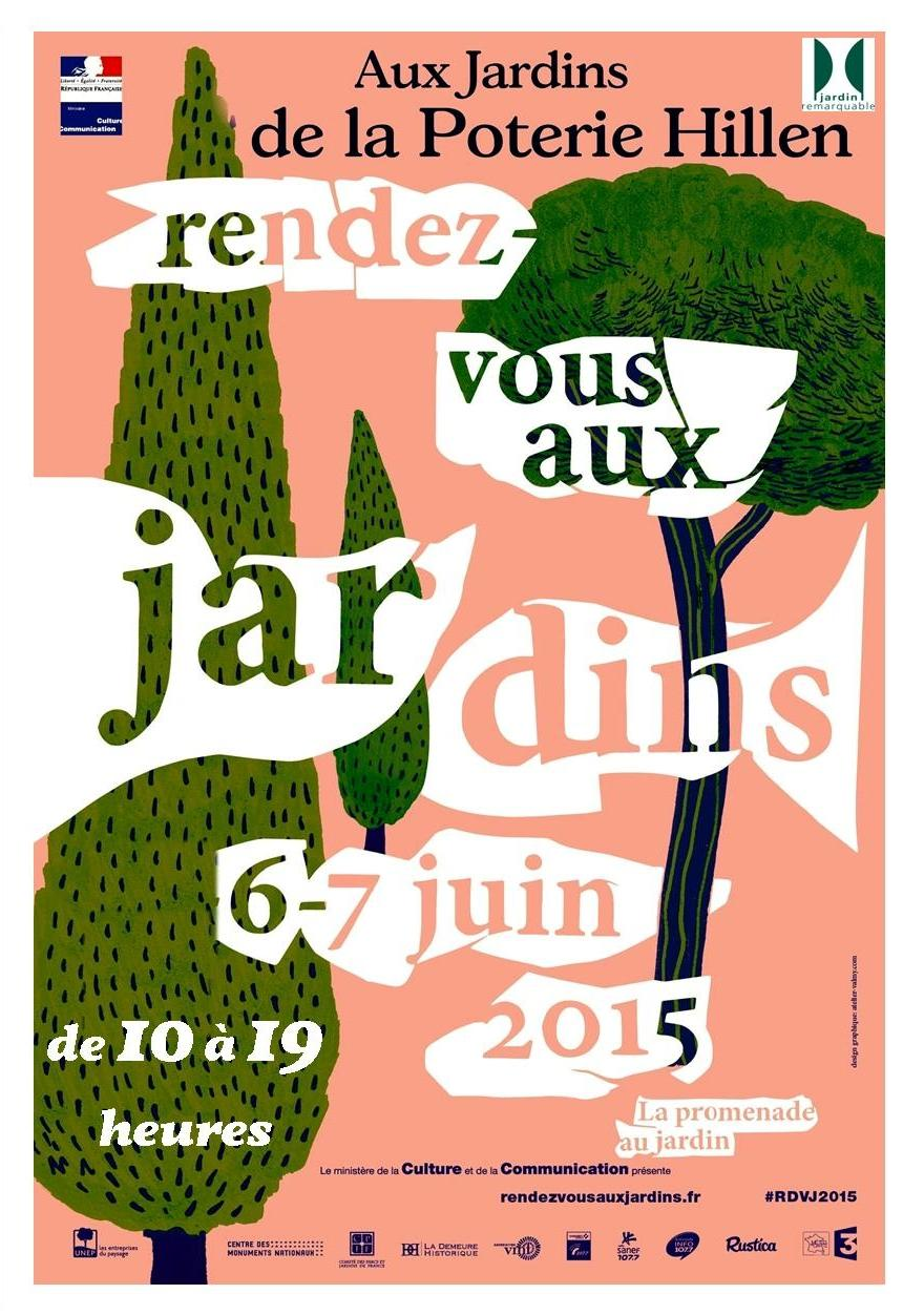 Les jardins de la poterie hillen rendez vous 2015 aux for Rdv jardin 2015