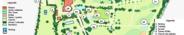 plan du jardin 2010
