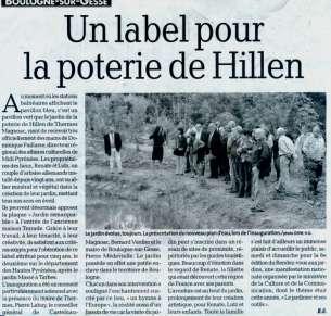 Thermes-Magnoac - un label pour la poterie Hillen